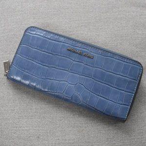 Michael Kors Mercer Crocodile-Embossed Wallet